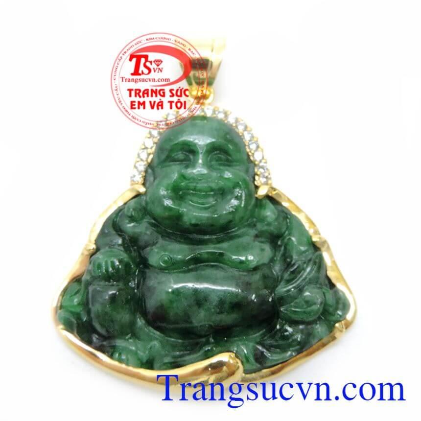 Mặt Phật Di Lặc Ngọc Cẩm Thạch Từ Bi