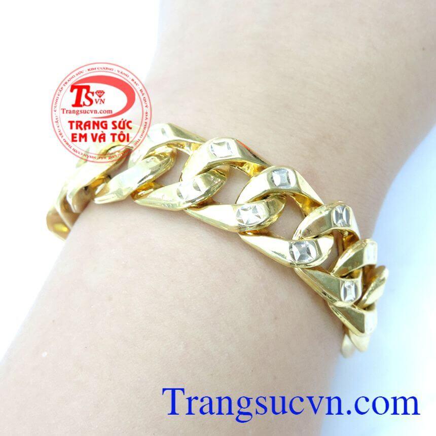 Chất lượng vàng đảm bảo,thiết kế lắc tinh tế và sang trọng. Lắc Vàng Mạnh Mẽ Cho Nam Đeo
