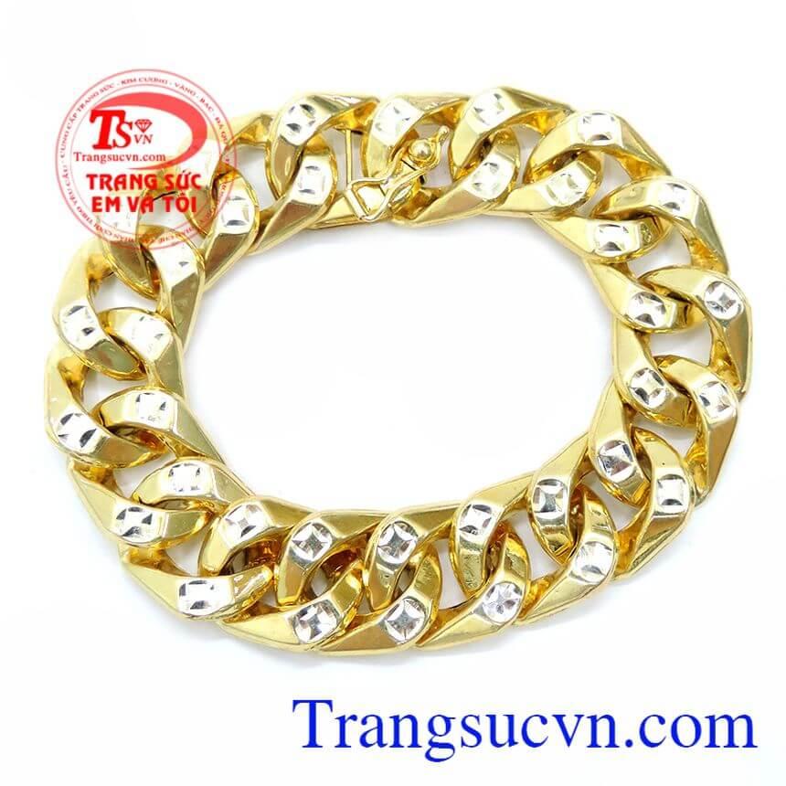 Lắc Vàng Mạnh Mẽ Cho Nam Đeo