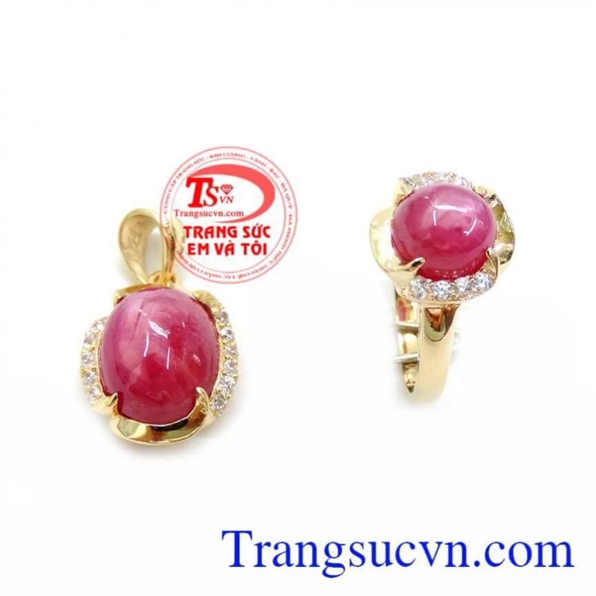 Bộ Mặt Nhẫn Nữ Ruby Xinh