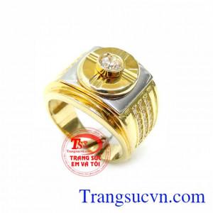 Nhẫn Nam 18K Phong Cách