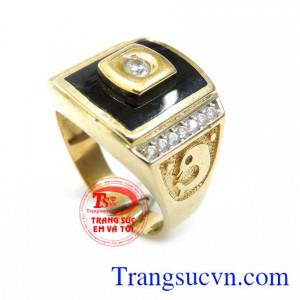 Nhẫn Nam Cá Heo Vàng