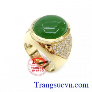 Nhẫn Nam Ngọc Nephrite Thiên Nhiên