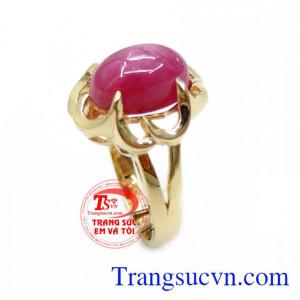 Nhẫn Nữ Đá Ruby Phong Thủy