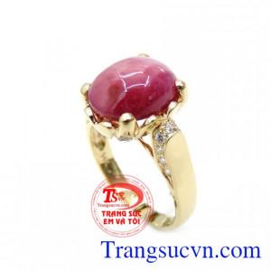 Nhẫn Nữ Ruby Tình Yêu Chung Thủy