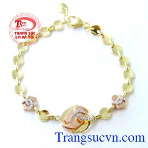 Lắc nữ vàng tây Korea 10k đẹp