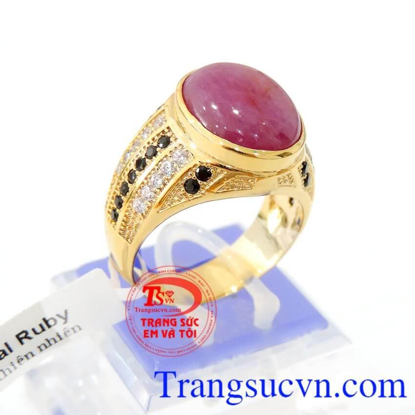 Nhẫn vàng 14k Ruby