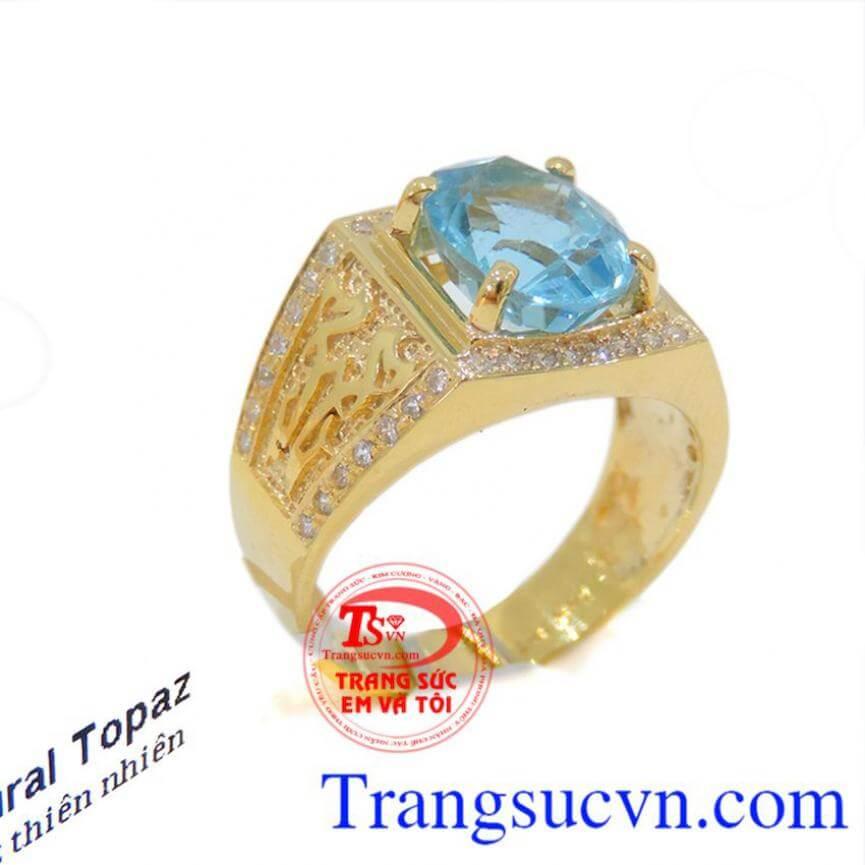 Nhẫn nam xanh lam