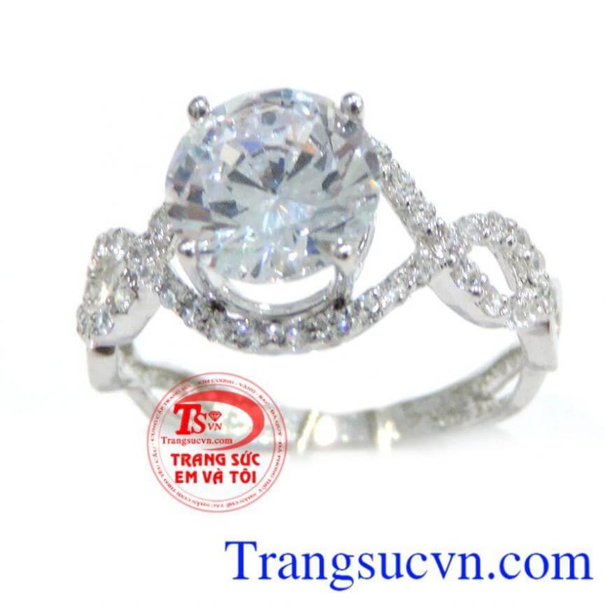 Nhẫn kim cương đẹp 18k