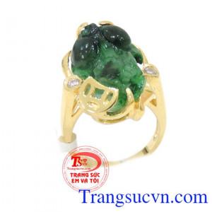 Nhẫn vàng nữ tỳ hưu ngọc