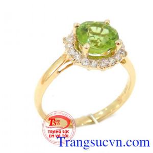Nhẫn nữ Đá Peridot thông thái