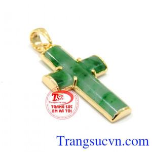 Mặt thánh giá vàng ngọc Jadeite
