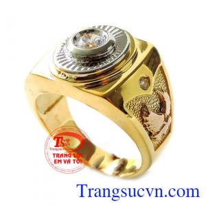 Nhẫn vàng 18k đại bàng