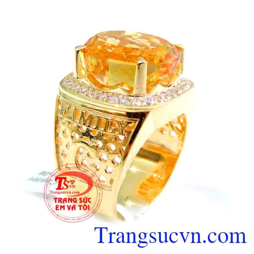 Nhẫn nam vàng mệnh kim