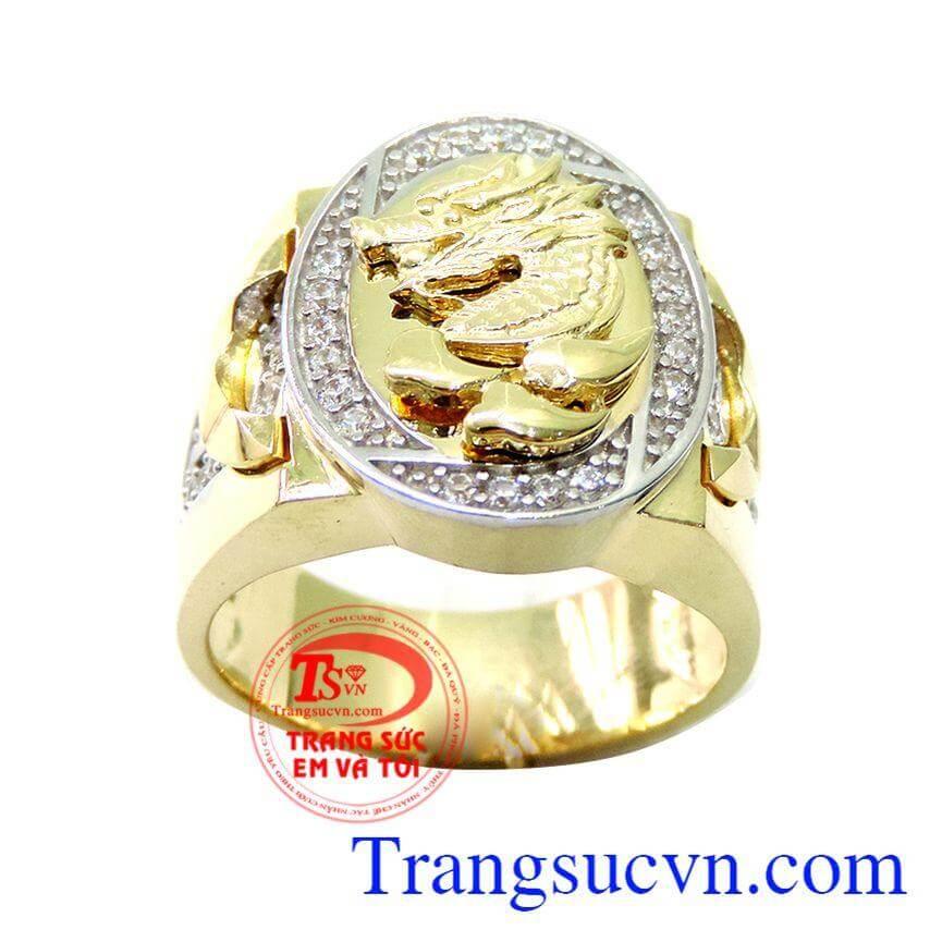 Nhẫn nam vàng mặt rồng