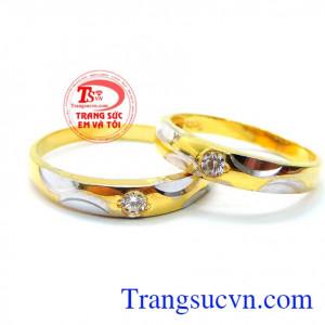 Nhẫn cưới vàng tây đẹp xinh xắn