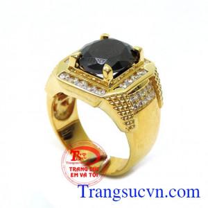 Nhẫn vàng nam đá may mắn