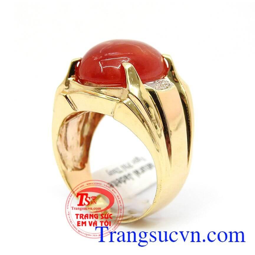 Nhẫn vàng nam uy quyền