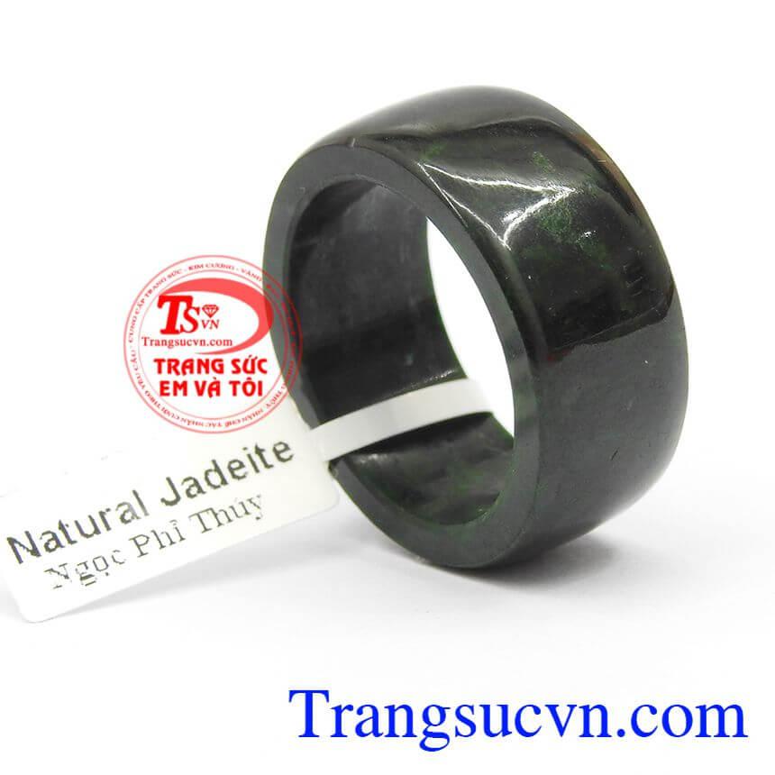 Nhẫn nam ngọc jadeite cầu an