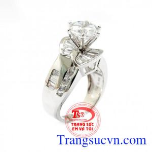 Nhẫn nữ vàng trắng tinh tế