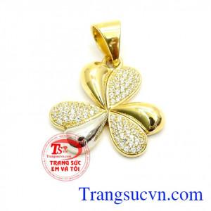 Mặt dây chuyền nữ Hàn Quốc hoa vàng