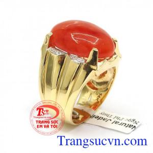 Nhẫn nam thời trang vàng 14k
