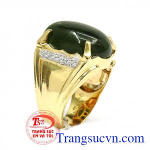 Nhẫn vàng nam cẩm thạch