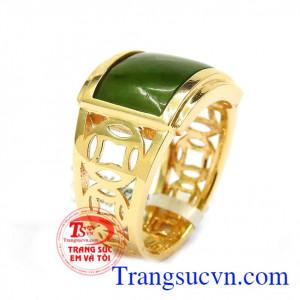Nhẫn nam vàng 14k mệnh mộc