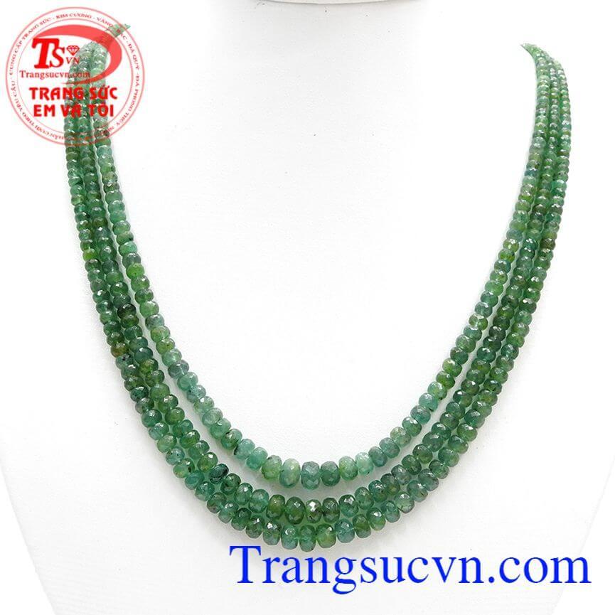 Chuỗi Emerald Tự Nhiên May Mắn