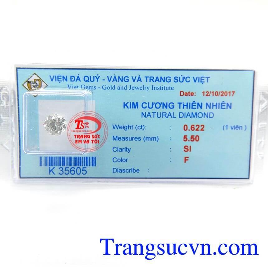 Kim Cương Thiên Nhiên 5.5 ly