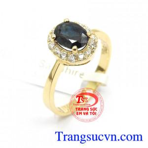 Nhẫn nữ Sapphire thiên nhiên thời trang