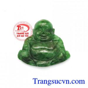 Mặt Phật Di Lặc Ngọc Cẩm Thạch May Mắn