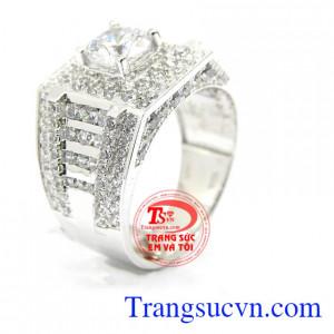 Nhẫn nam vàng trắng sang trọng