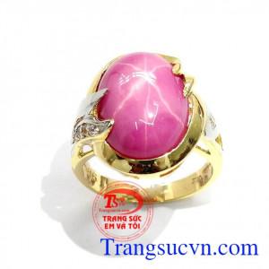 Nhẫn Ruby Sao Sang Trọng Quý Phái