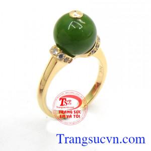Nhẫn nữ nephrite sang trọng