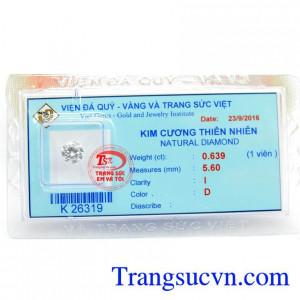 Kim Cương Thiên Nhiên 5.6 ly
