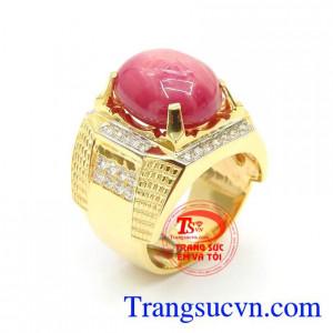 Nhẫn Ruby Sao Nam Sang Trọng