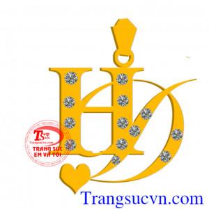 Chữ HD bằng vàng