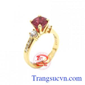 Nhẫn nữ Ruby đỏ