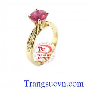 Nhẫn nữ ruby sang trọng