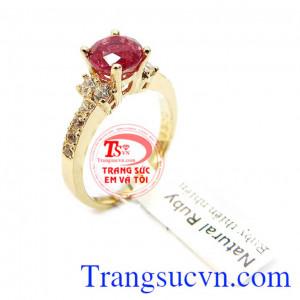 Nhẫn nữ ruby cao cấp