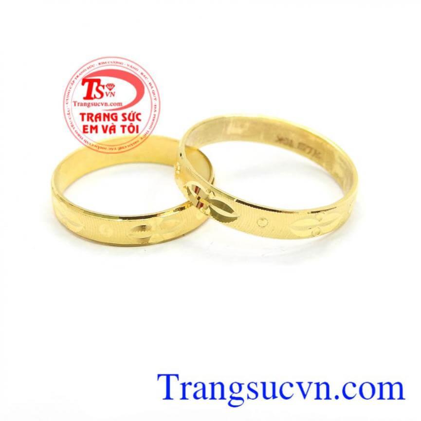 Nhẫn cưới hạnh phúc trọn vẹn