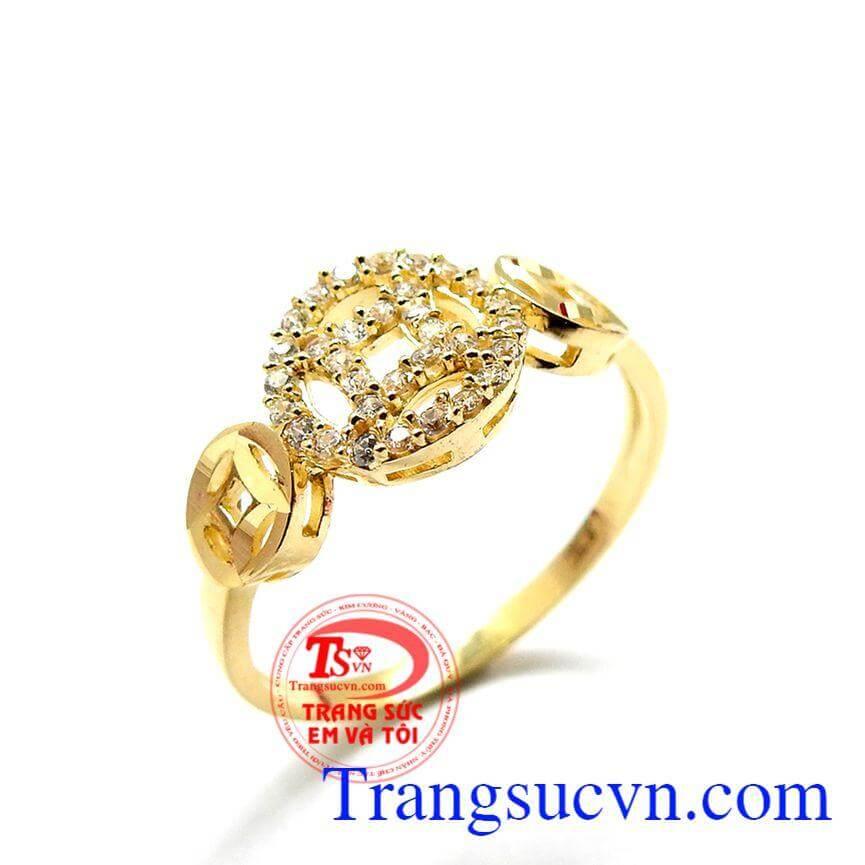 Nhẫn kim tiền phong thủy