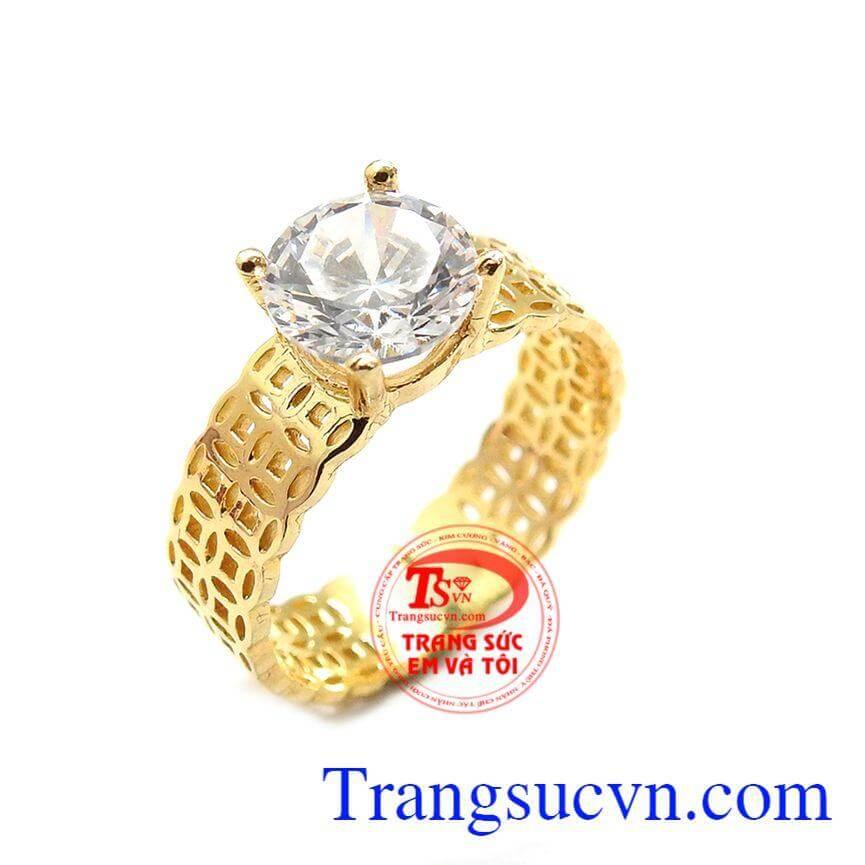Nhẫn kim tiền phú quý