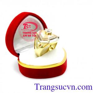 Nhẫn nam 3 màu quý phái