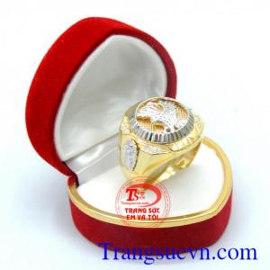 Nhẫn nam vàng 18k sang trọng
