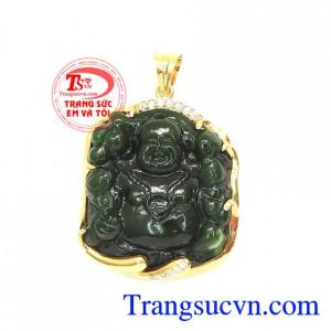 Mặt Phật Di Lặc Bọc Vàng Tài Lộc