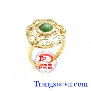 Nhẫn Nữ Vàng Đính Ngọc Cẩm Thạch