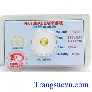 Viên đá Sapphire vàng trong suốt