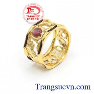 Nhẫn Nam Lông Đuôi Voi Ruby